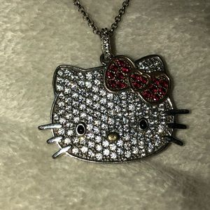 crystal hello kitty necklace 💖